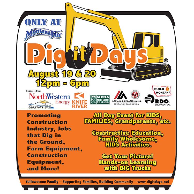Dig It Days 2021 - Aug. 19th & 20 Montana Fair