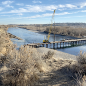 Construction Begins on Bypass Bridge over Yellowstone River