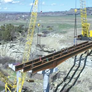 Girders Going Up on Bridge
